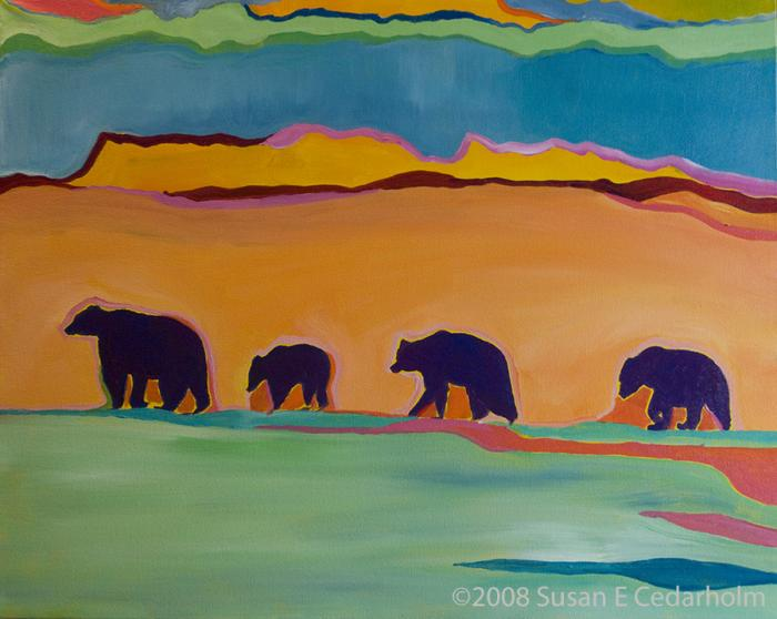 Four Bears by Susan E Cedarholm